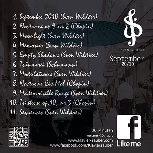 September 2010- Titelliste