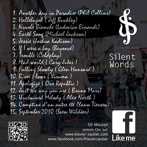 Silent Words- Titelliste